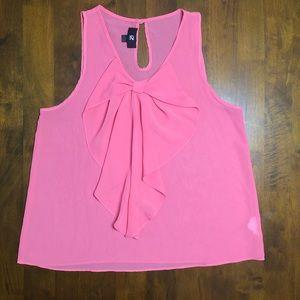 Iz Byer Sheer Light Pink Tank Top